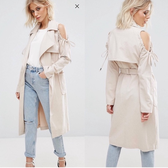 ASOS Jackets & Blazers - Lost Ink Cold shoulder jacket